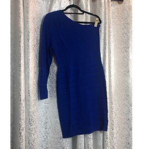 Royal blue one shoulder dress